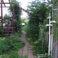 メインガーデンに通じる小道